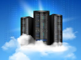 Web hosting services often come with domain registration. Illustrated is a network data server with realistic cloud | Courtesy Photos.
