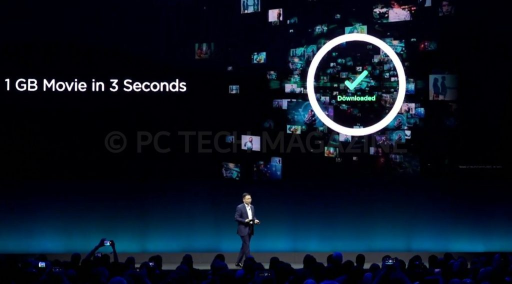 Consumers can be in position to download a 1GB file in 3 seconds with Huawei's 5G connection   Photo by : PC TECH MAGAZINE/Olupot Nathan Ernest.