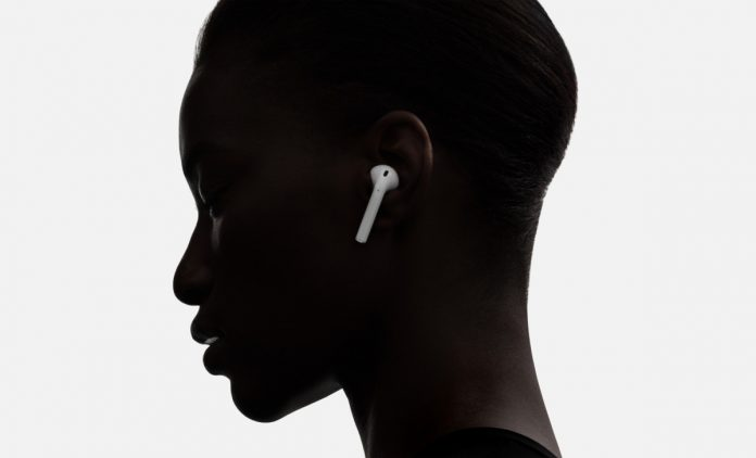 A woman seen with a pair of Apple's AirPods. (Photo Courtesy: Boy Genius Report/File Photo)