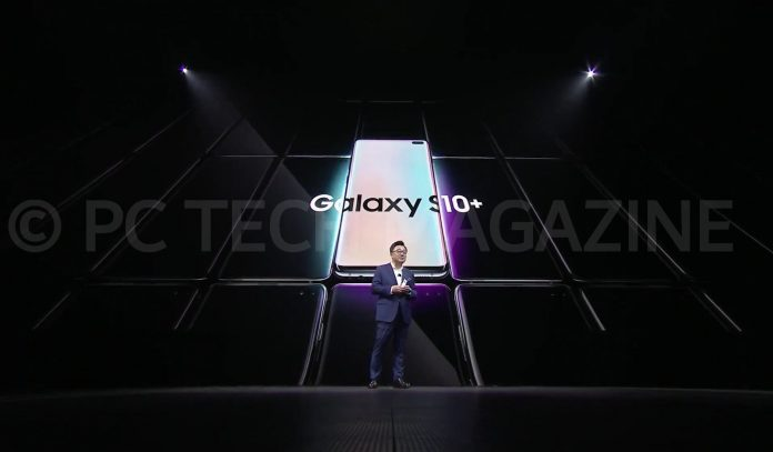 Dong-Jin Koh, President and CEO of Samsung Electronics, officially unveiled the Samsung Galaxy S10 phones during the company's unpacked event in San Francisco on Feb. 20th, 2019 | Photo by : PC TECH MAGAZINE/Olupot Nathan Ernest.