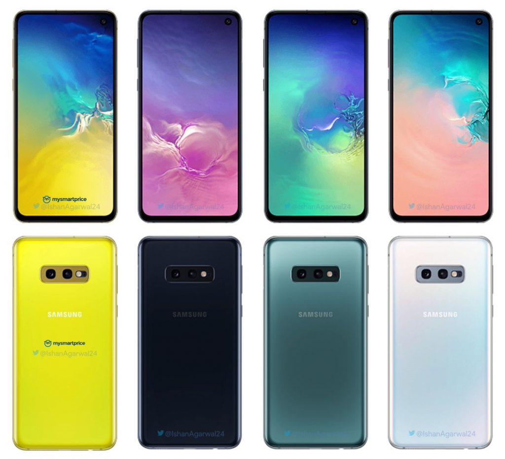 The Samsung Galaxy 10 phone, all models, are rumored to come up-to 8 colors | Photo Courtesy : Twitter/ Ishan Agarwal (@ishanagarwal24)