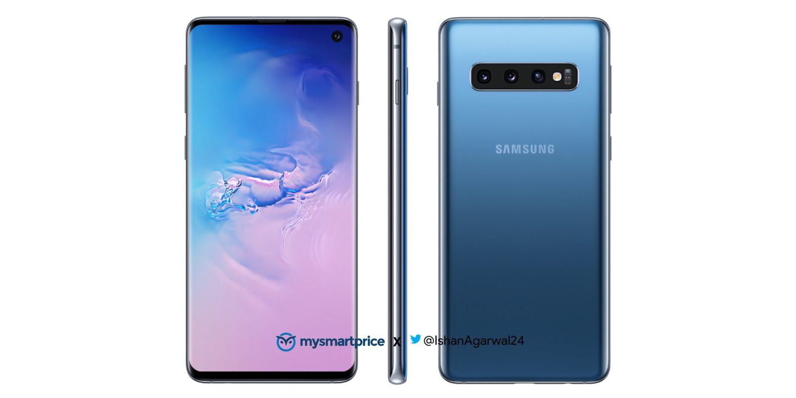 Photo of Purported Banner Shows 3.5mm Audio Jack on the Galaxy S10+, While Galaxy Foldable Handset Confirmed For UnPacked Event