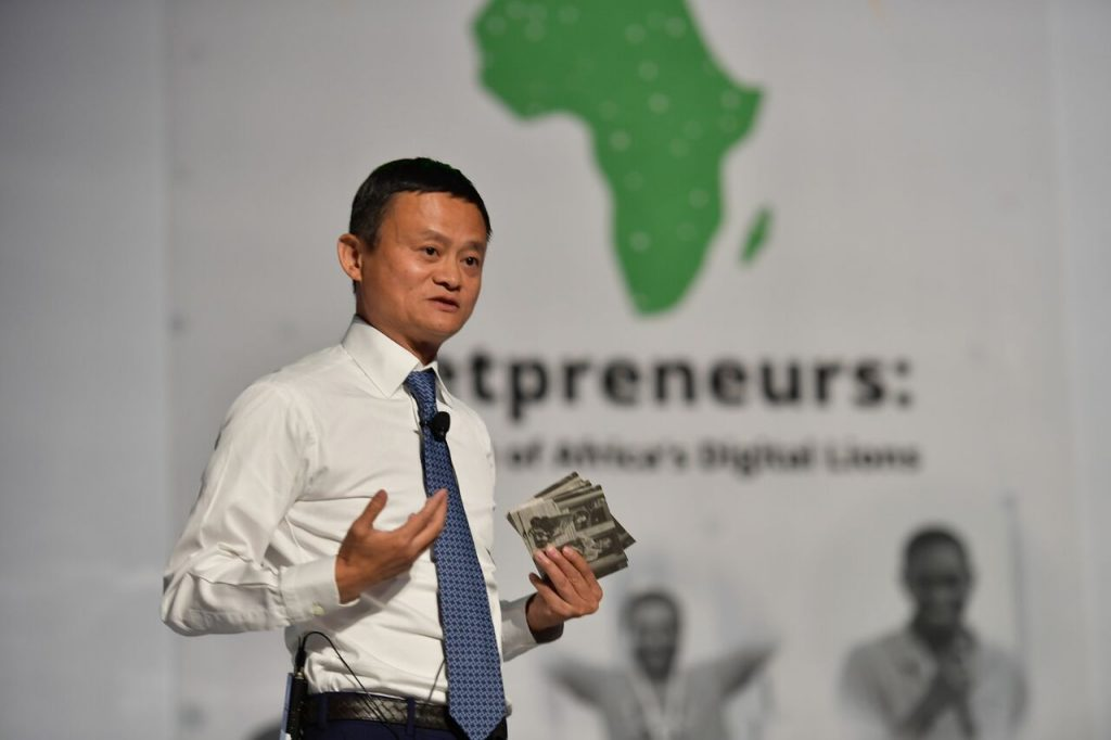 Alibaba Founder, Jack Ma speaking to entrepreneurs at the launch of the Africa Netpreneur Prize Initiative during his visit to Africa | File Photo.
