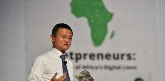 Alibaba Founder, Jack Ma speaking to entrepreneurs at one of the Netpreneur Prize Event during his visit to Africa | Photo Courtesy : File Photo.