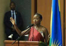 Paula Ingabire, Rwanda's Minister for Information and Communications Technology speaking before the Parliamentary Standing Committee on Education, Technology, Culture and Youth in Rwanda | Photo Courtesy/File Photo.