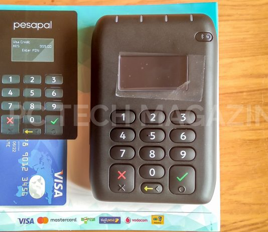 PesaPal integrates digital wallet payments including; Samsung Pay, Apple Pay, FitBit Pay and Google Pay on its new POS terminals | Photo Courtesy : PC Tech Magazine/Olupot Nathan Ernest.
