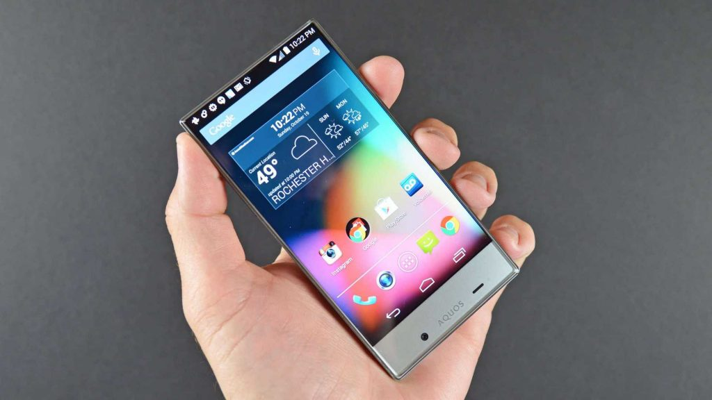 Sharp's Aquos Crystal - Edgeless display smartphone   YouTube Images