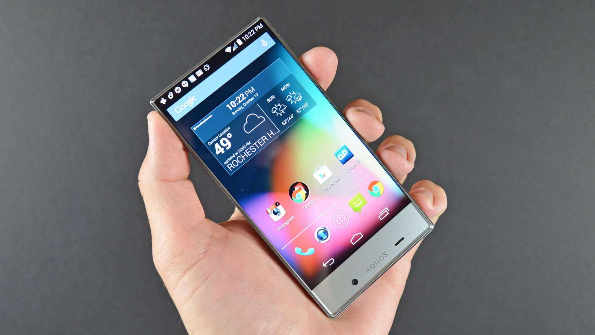 Sharp's Aquos Crystal - Edgeless display smartphone | YouTube Images