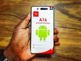 A consumer displays the itel A16 the newest entry level smartphone in the itel A-series | Photo by : PC TECH MAGAZINE/Olupot Nathan Ernest.