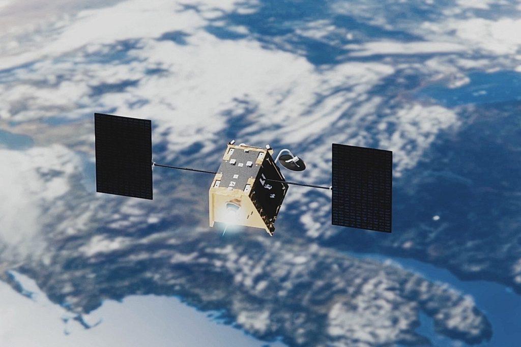 An artistic rendering of how OneWeb's fridge-sized satellites look like | Photo Courtesy : OneWeb.