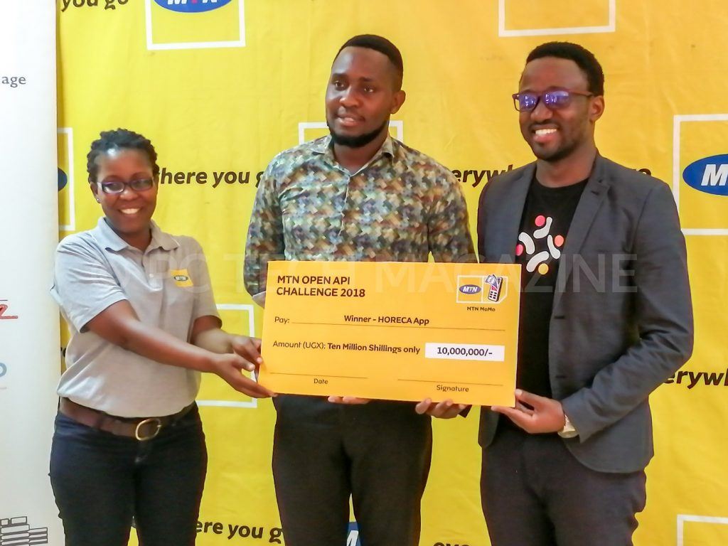 App About emerged as overall winners in the HORECA Category of the 2018 MTN API App Challenge | Photo by PC TECH MAGAZINE/Olupot Nathan Ernest.