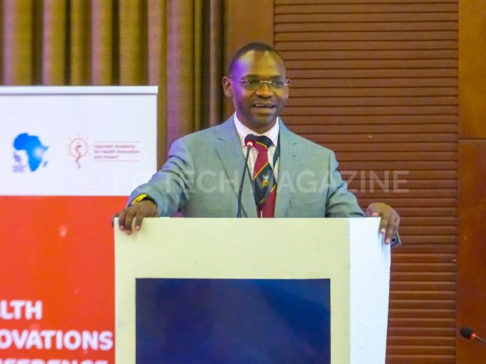 Dr. Umar Kakumba keynote speech at the opening ceremony of the Health Innovation Conference at the Kampala Serena Hotel on Tuesday 19th, March 2019 | Photo by PC TECH MAGAZINE/Olupot Nathan Ernest.