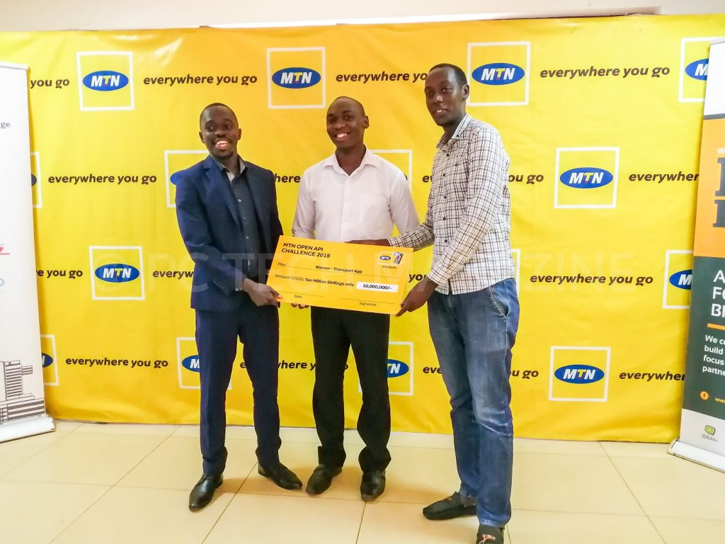 Easy Matatu emerged as overall winners in the Transport Category of the 2018 MTN API App Challenge | Photo by PC TECH MAGAZINE/Olupot Nathan Ernest.