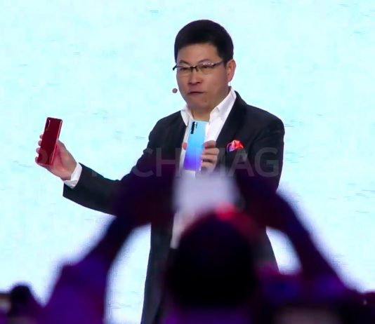 Huawei's CEO of Consumer Business, Richard Yu officially unveils the Huawei P30 and Huawei P30 Pro at an unveiling event in Paris, France on March 26th, 2019 | Photo by PC TECH MAGAZINE/Olupot Nathan Ernest.