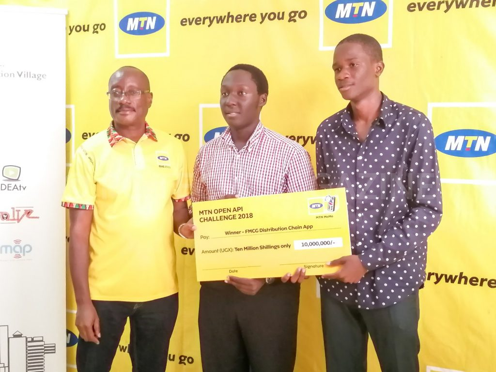 Minute Five emerged as overall winners in the FMCG Category of the 2018 MTN API App Challenge | Photo by PC TECH MAGAZINE/Olupot Nathan Ernest.