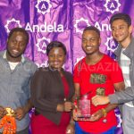 Oocho Tech won the IDI-Andela Hackathon for they desinged a BCT-Glove that provides real-time and self-testing solution that help to detect cancer | Photo by PC TECH MAGAZINE/Olupot Nathan Ernest.