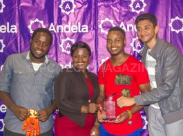 Oocho Tech won the IDI-Andela Hackathon for they desinged a BCT-Glove that provides real-time and self-testing solution that help to detect cancer   Photo by PC TECH MAGAZINE/Olupot Nathan Ernest.