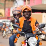A safeboda customer enjoys his ride | File Photo/Safeboda Uganda.