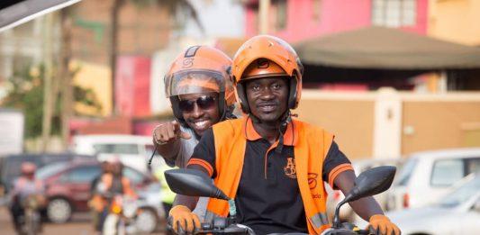 A safeboda customer enjoys his ride | File Photo/Safeboda Uganda.