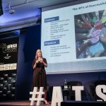 Managing Director at AFGRI Technology Services, Niki Neumann speaking at Africa Tech Summit London 2018 | File Photo/Africa Tech Summit.