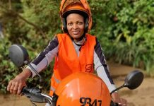 Dathive Mukeshimana (SB 9341) joins safeboda Uganda as the second female rider | Photo by Safeboda/Moses Musinguzi.