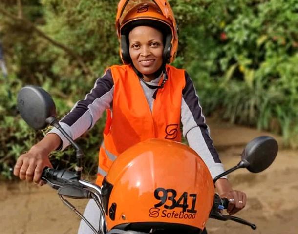 Dathive Mukeshimana (SB 9341) joins safeboda Uganda as the second female rider | Photo by Safeboda/Moses Musinguzi.