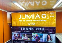 Jumia lists 17.6% of the company on the New York Stock Exchange (NYSE) with its shares beginning trading at USD$14.50 — trading as JMIA | Photo by PC TECH MAGAZINE/Olupot Nathan Ernest.