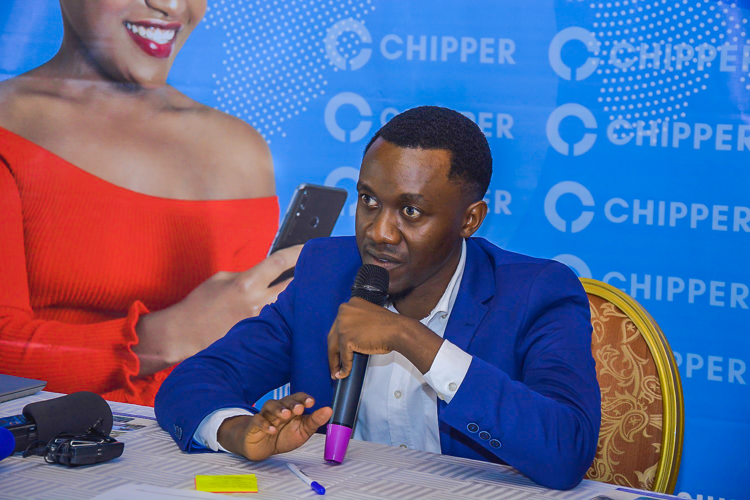 Chipper Technologies Executive Director; Ed Mageba speaking at the launch of Chipper Cash in Uganda at a press conference held at Grand Imperial Hotel on Wednesday May, 15th 2019.