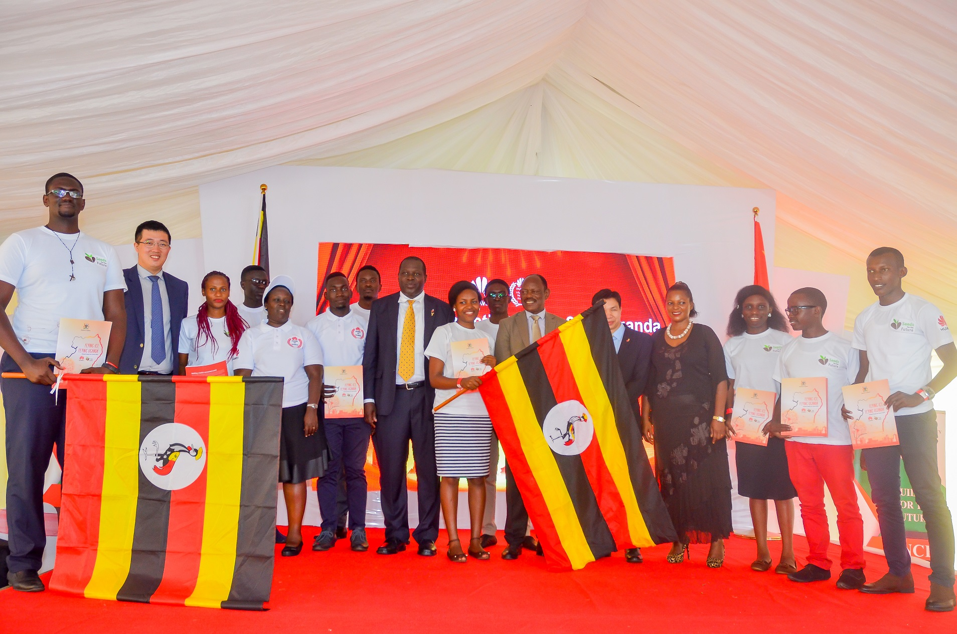 Photo of Hon. Frank Tumwebaze Flags Off Seeds For Future Winners to China