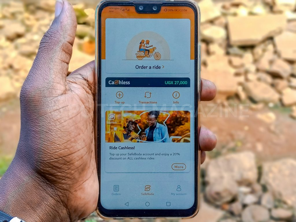 Users can top up safeboda credit even when the trip is on going.