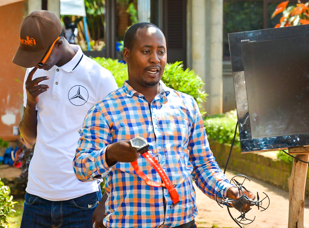 Pictured Jaguza Tech CEO and Founder; Mr. Robert Katamba during a field work in Entebbe. Jaguza Tech is among the ten Ugandan AgriTech startups selected for the 2019 AgriHack pitch competition. File Photo/Jaguza Tech