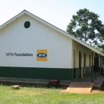 One of the three newly finished and furnished classroom block MTN Uganda Foundation handed over to Malongo Ark PEAS High School in Mayuge district.