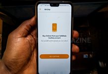 Buying airtime from the safeboda cashless account.