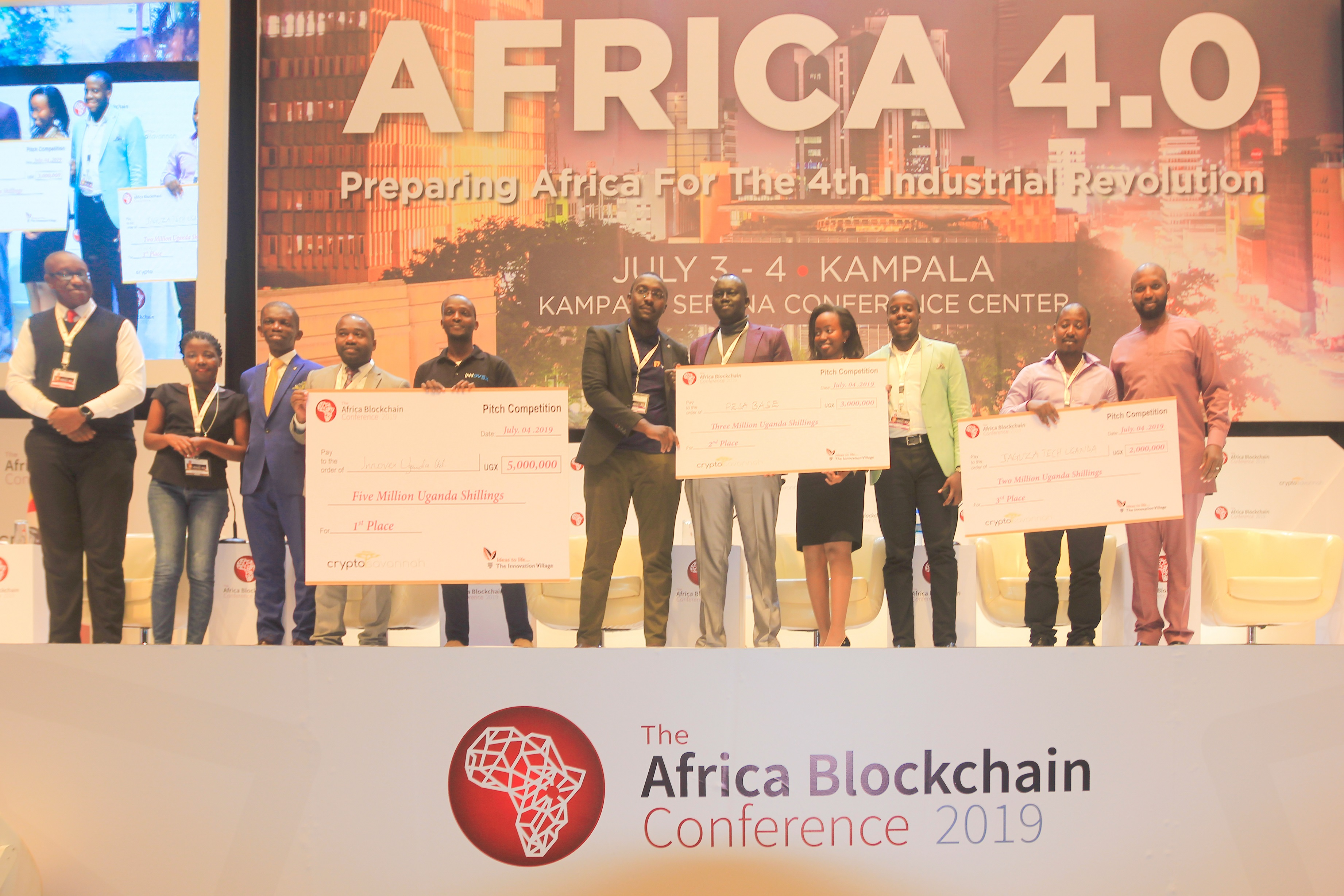 Photo of Winning Startups of the Blockchain Pitch Competition
