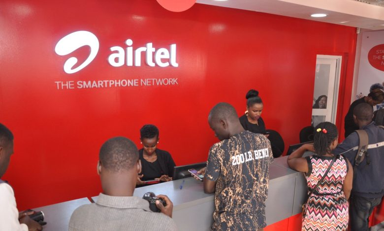 Customers pictured at one of Airtel service centers. Courtesy Photo