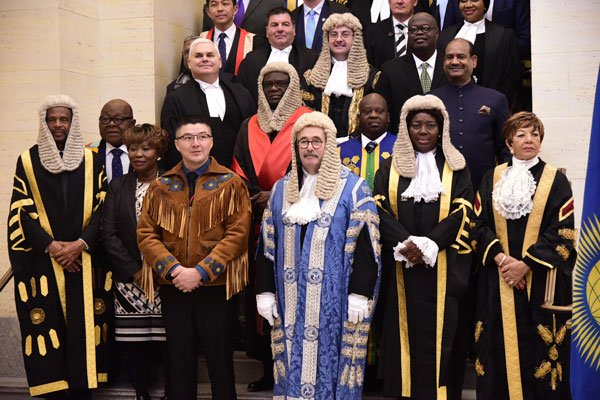 Speaker Rebecca Kadaga (2nd right front row) poses for a group photo at the 25th Conference of the Speakers and Presiding Officers of the Commonwealth in Ottawa, Canada yesterday. Courtesy Photo: Parliament
