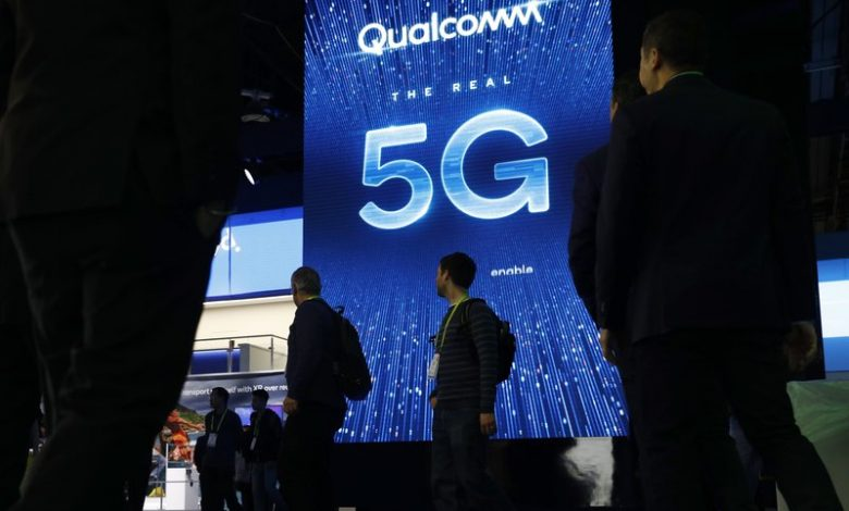 A 5G sign advertised at a Qualcomm booth at the 2019 CES International in Las Vegas. AP File Photo/John Locher