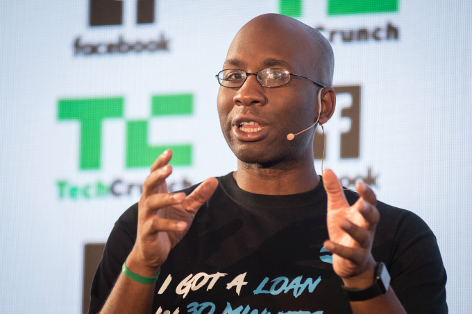 Carbon Chief Executive Officer and Co-founder; Mr Chijioke Dozie speaking at a Tech Crunch event. Courtesy Photo
