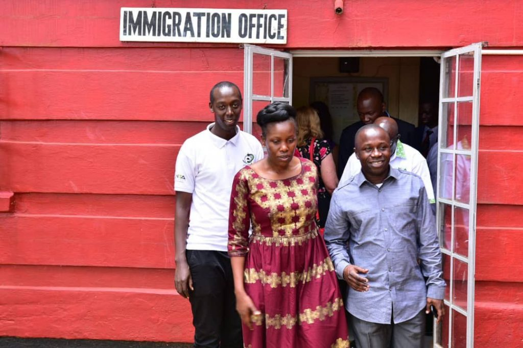 Nabakooba and Ogwang touring the Immigration Offices in Jinja. Photo by | Erick Kulu