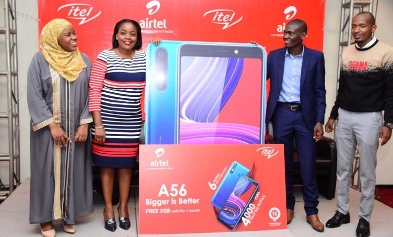 Itel Uganda and Airtel Uganda officials pose for a group photo after launching the itel A56 at Sheraton Hotel in Kampala, on Friday 13th, March 2020. Courtesy Photo | Airtel Uganda