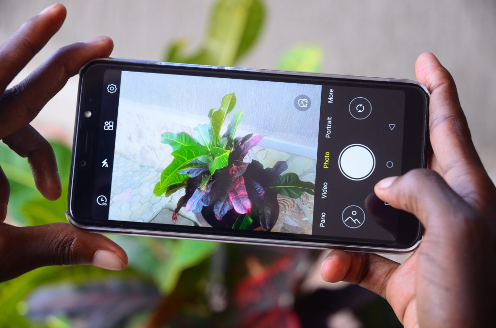 Using the rear camera on the itel A56.