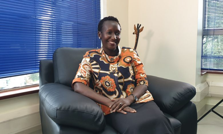 Eng. Irene Kaggwa Sewankambo Ag. Executive Director , Uganda Communications Commission after her e-meeting with Airtel Managing Director VG Somasekhar. Courtesy Photo | UCC