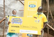 Photo of MTN Awarding Winners & Beneficiaries in their on-Running MoMoNyabo Promo