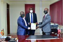 Photo of James Saaka Officially Handsover Office to Dr Hatwib Mugasa as the New Executive Director of NITA Uganda