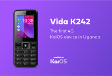 Photo of Africell Unveils its first 4G KaiOS device in Uganda, the 4G Vida K242