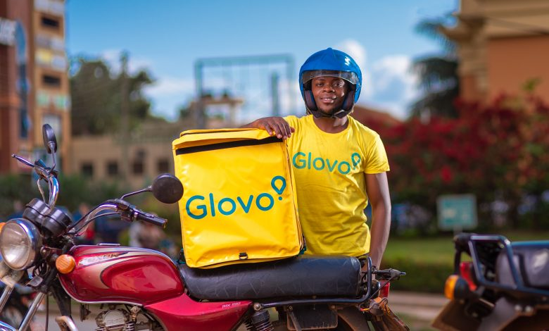 A Glovo rider pictured after delivering to a customer in Kampala. (COURTESY PHOTO)