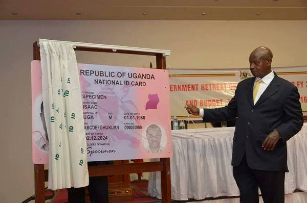 President Museveni flagging off the issuance of National Identification Cards to citizens during an event held at Munyonyo in 2014. Courtesy Photo