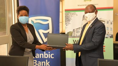 Photo of Stanbic Bank Donates Computers to Makerere University