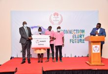 Photo of Three Ugandans Students Awarded by Huawei After Winning ICT Competition