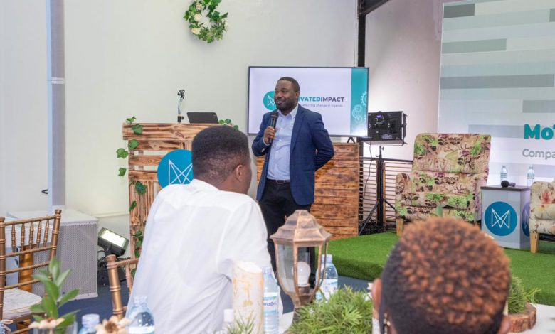 CK Japheth, MoTIV Team Lead officially launches MoTIVATED Impact, a venture of MoTIV Creation Uganda at their offices located on Old Portbell Road, Kampala, Uganda. This event was held to highlight Ugandan brands and encourage corporate companies to source locally.